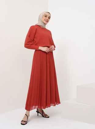 Red - Fully Lined - Skirt