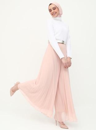 Pink - Chiffon - Pants
