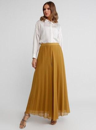 Khaki - Chiffon - Pants