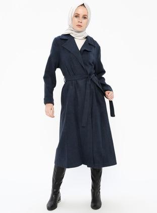 Navy Blue - Indigo - Unlined - Topcoat - Gzd