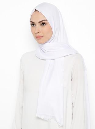 White - Plaid - Shawl