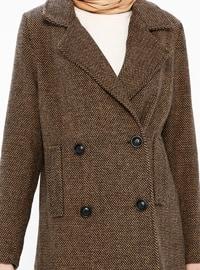 Camel - Fully Lined - Shawl Collar - Coat - Gzd