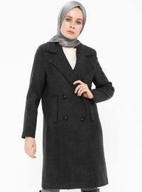 Black - Fully Lined - Shawl Collar - Coat - Gzd