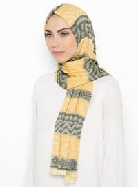 Yellow - Ethnic - Shawl