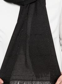 Black - Plaid - Shawl