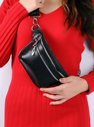 Black - Clutch - Bum Bag - WMİLANO