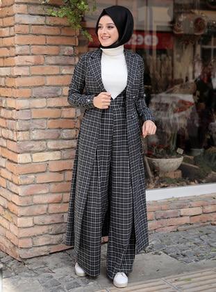 Black - Multi - Unlined - Topcoat