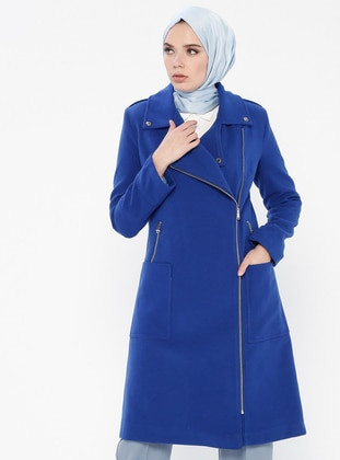 Saxe - Fully Lined - Point Collar - Coat