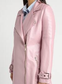Pink - Fully Lined - Shawl Collar - Puffer Jackets