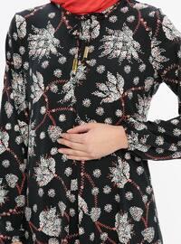 Black - Coral - Multi - Crew neck - Unlined - Dresses
