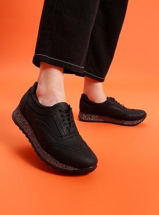 Black - Sport - Shoes - Ayakkabı Havuzu