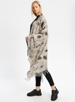 Acrylic - Minc - Printed - Fringe - Shawl Wrap