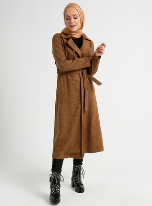 Tan - Unlined - Shawl Collar - Coat