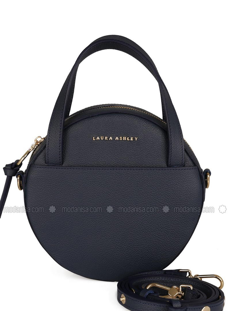 leather Laura ashley Navy Shoulder Bag