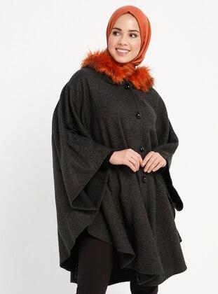 Black - Orange - Unlined - Poncho