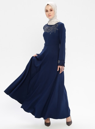 12b9f7d3d أزرق - أزرق داكن - نيلي - قبة مدورة - نسيج غير مبطن - فستان