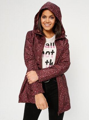 Black - Maroon - Leopard - Fully Lined - Trench Coat