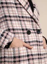 Black - Powder - Plaid - Fully Lined - Shawl Collar - Topcoat
