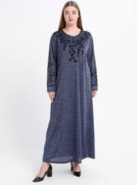 Indigo - Unlined - Crew neck - Plus Size Dress
