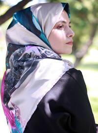 Beige - Printed - Scarf -  Eşarp & Şal
