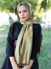 Golden tone - Plain - Shawl -  Eşarp & Şal