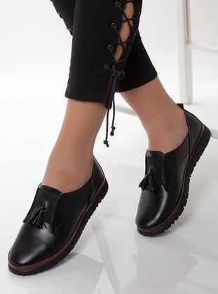 Black - Casual - Shoes - Deripabuç