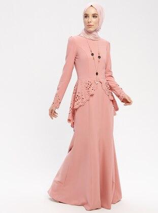 Powder - Unlined - Crew neck - Muslim Evening Dress 287dd255f0e5