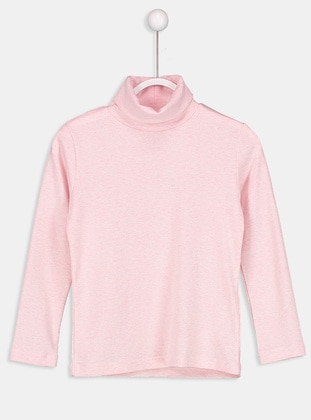 Pink - Polo neck - Age 8-12 Top Wear - LC WAIKIKI