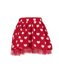 Red - Printed - Age 8-12 Skirt