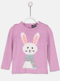 Lilac - Printed - Crew neck - Age 8-12 Top Wear