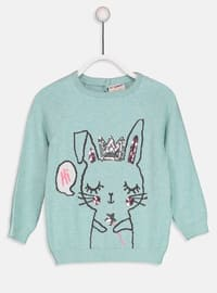 Green - Printed - Crew neck - Age 8-12 Top Wear