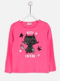 Pink - Crew neck - Age 8-12 Top Wear