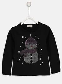 Black - Crew neck - Age 8-12 Top Wear