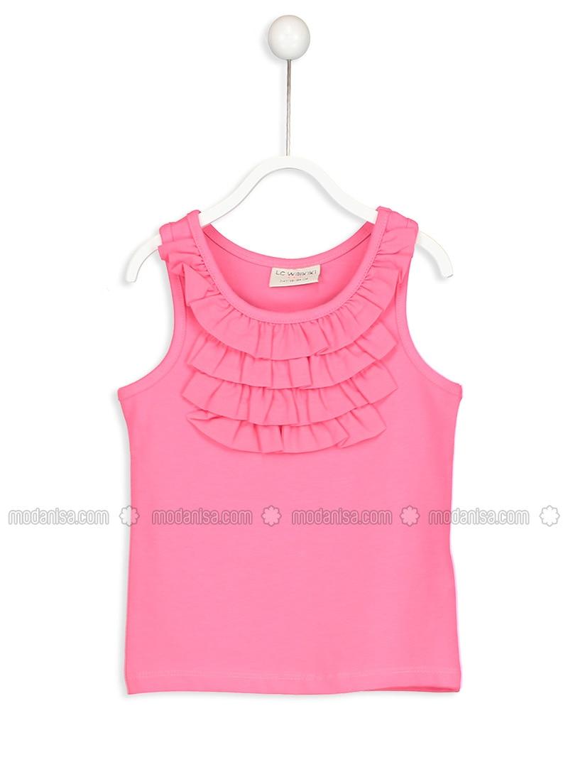Pink - Crew neck - Undershirt