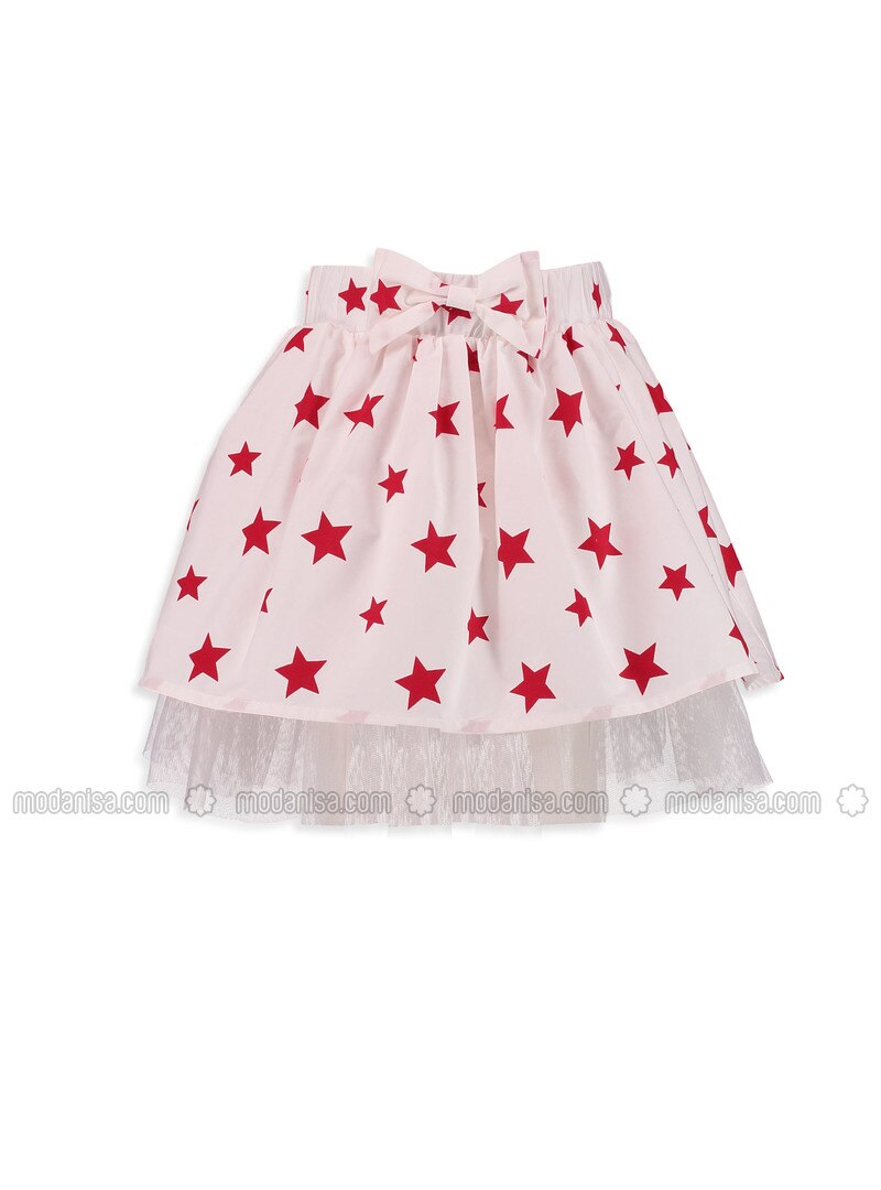White - Printed - Age 8-12 Skirt