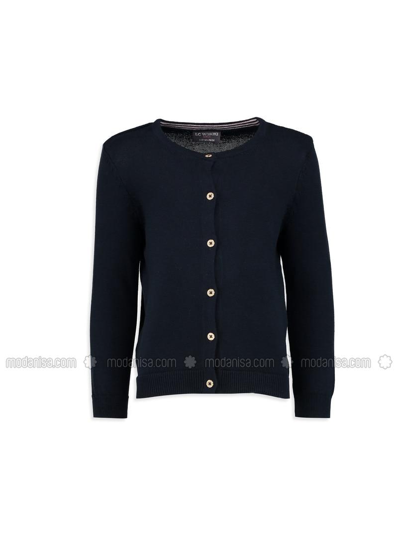 Navy Blue - Crew neck - Age 8-12 Outerwear