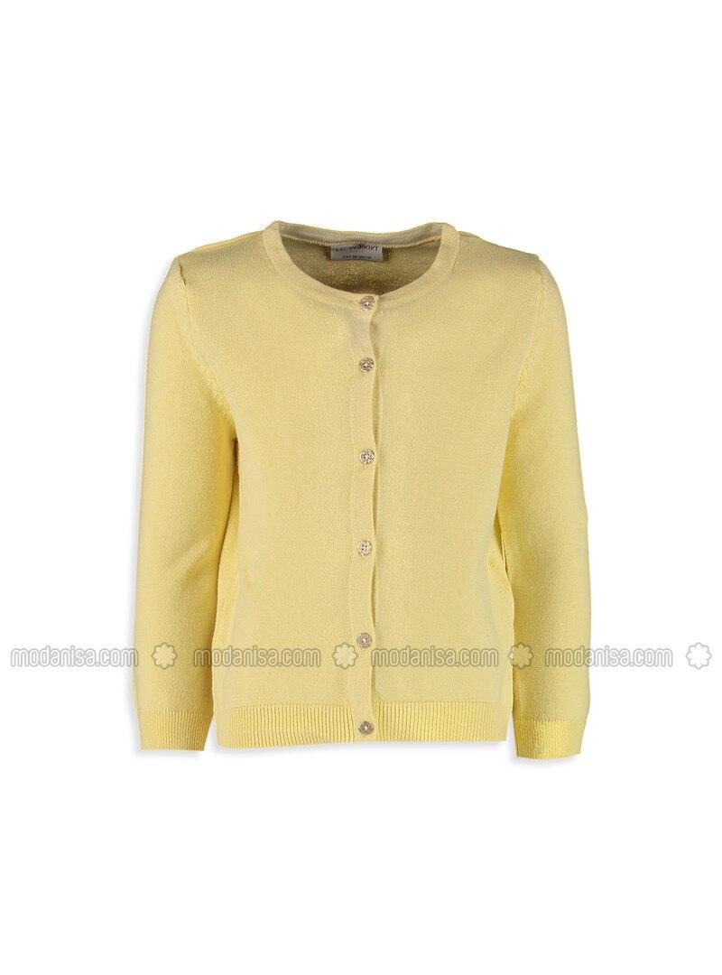 Yellow - Crew neck - Age 8-12 Outerwear