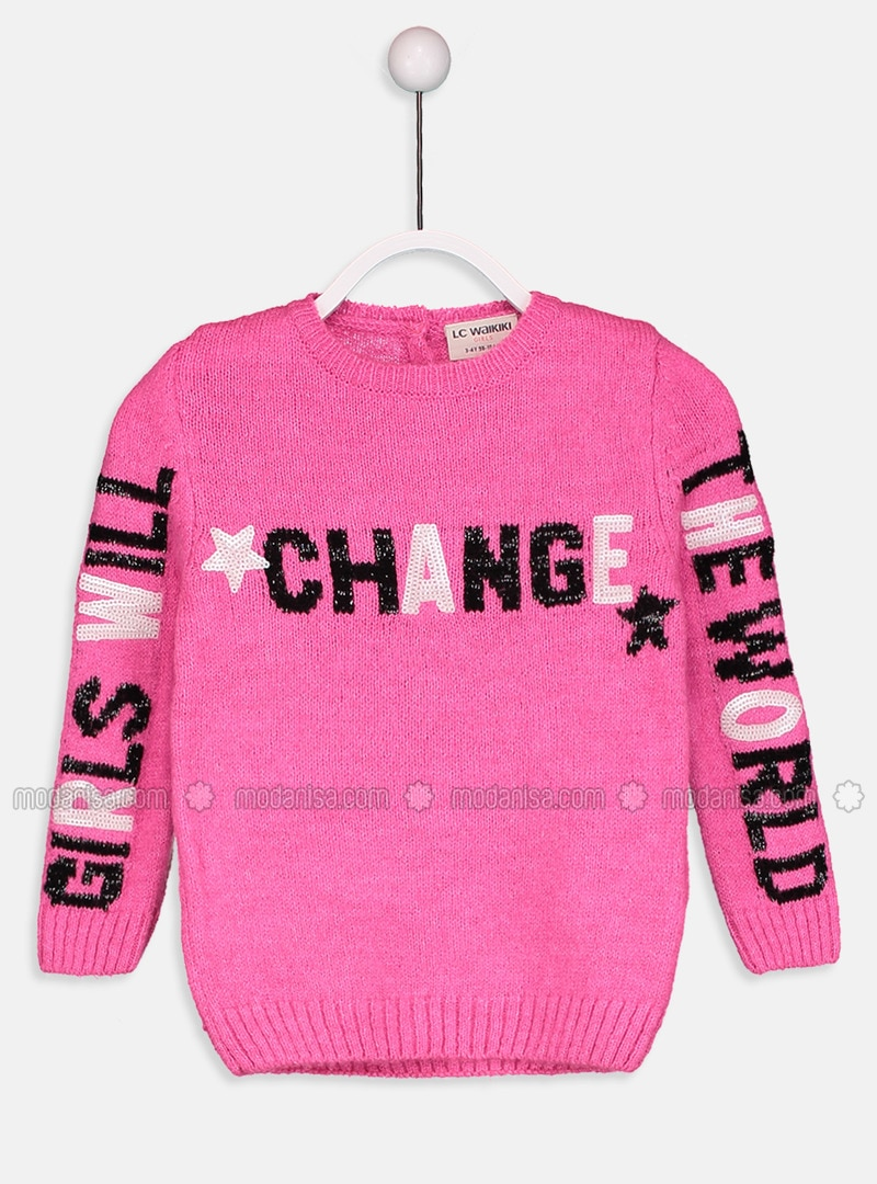 Fuchsia - Printed - Crew neck - Age 8-12 Top Wear