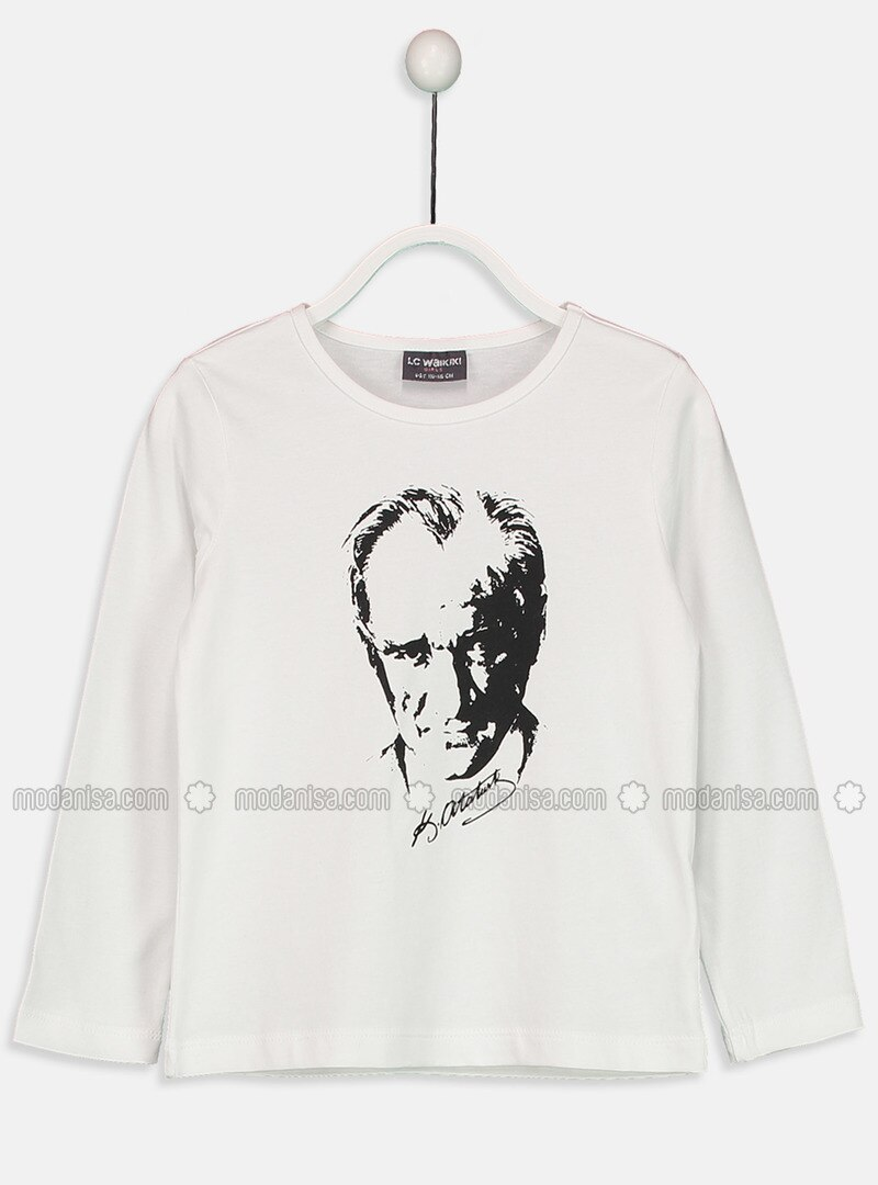 White - Crew neck - Age 8-12 Top Wear