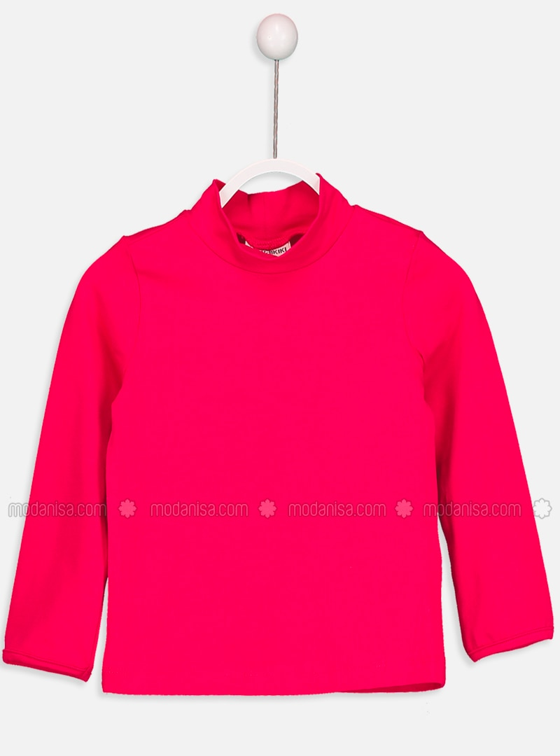 Fuchsia - Polo neck - Age 8-12 Top Wear
