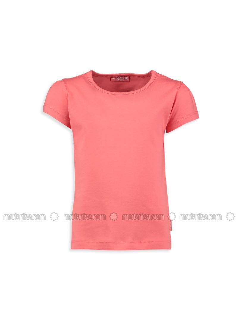 Coral - Crew neck - Age 8-12 Top Wear
