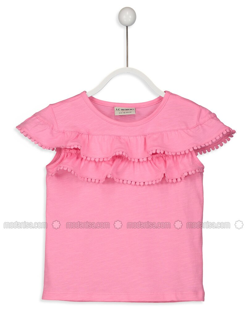 Pink - Crew neck - Age 8-12 Top Wear