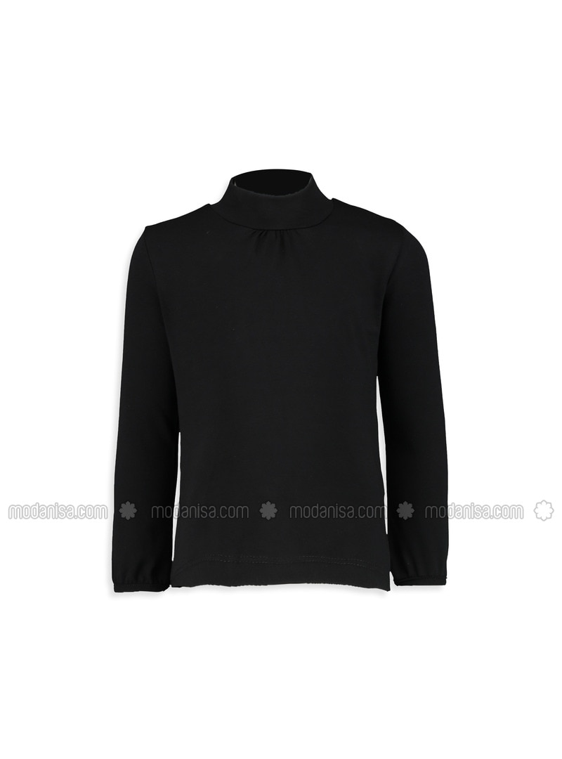 Black - Polo neck - Age 8-12 Top Wear