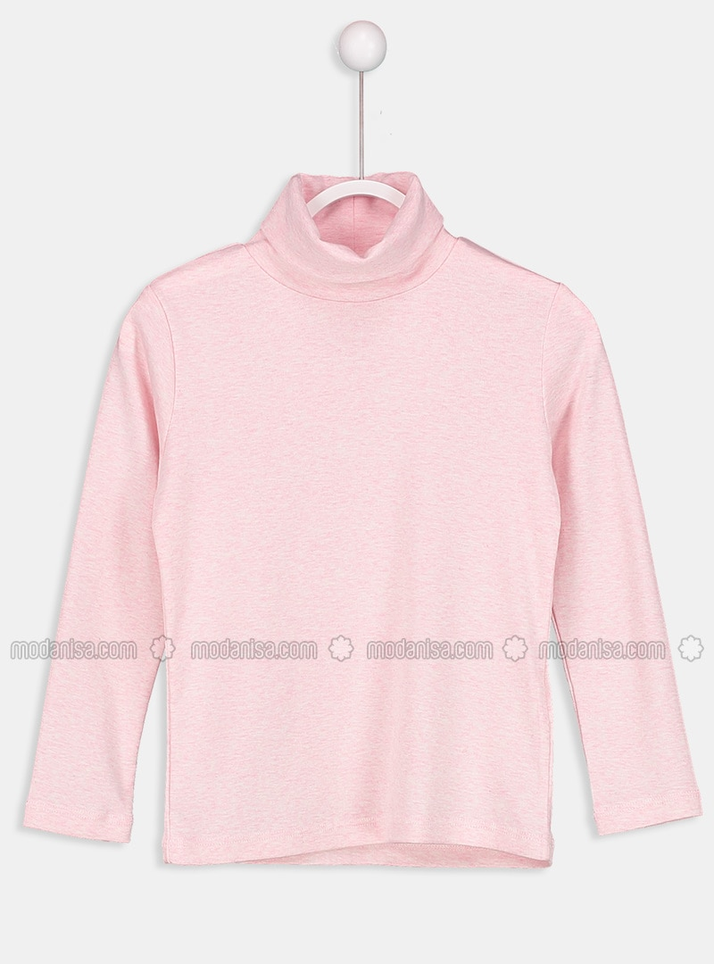 Pink - Polo neck - Age 8-12 Top Wear