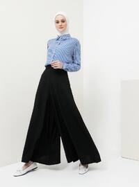 Black - Cotton - Culottes