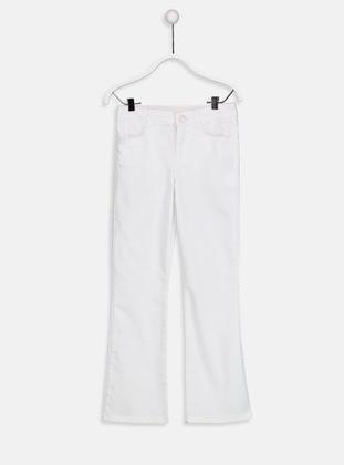 White - Age 8-12 Pants