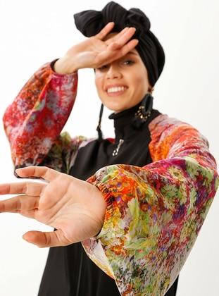 Black - Pink - Multi - Abaya