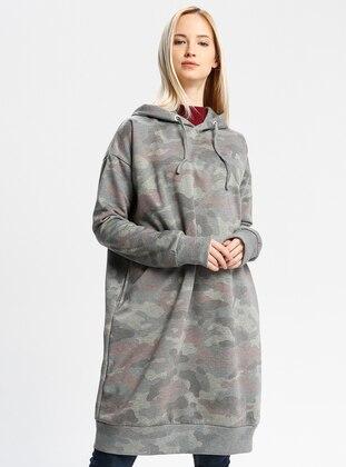Gray - Multi - Cotton - Tunic
