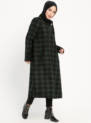 Emerald - Checkered - Unlined - Point Collar - Topcoat