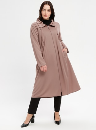 Minc - Unlined - Point Collar - Polo neck - Plus Size Coat
